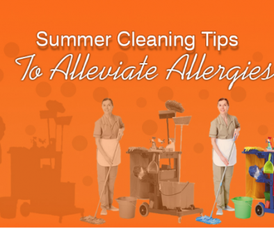 Summer cleaning tips to alleviate allergies.