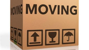 A cardboard box used to move items to a new home.